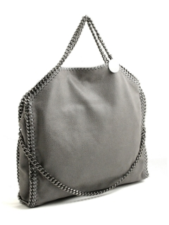 Stella McCartney falabella three chain light grey tote bag 234387 W9132 1220