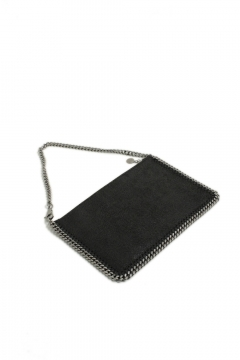 Stella McCartney black flat clutch pochette nera piatta Stella McCartney shop online