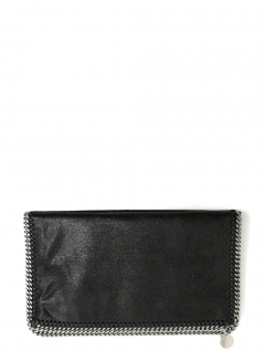 Stella McCartney falabella black fold-over clutch falabella pochette nera fold-over Stella McCartney bags shop online
