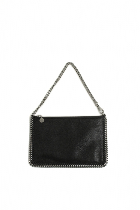 Stella McCartney black flat clutch pochette nera piatta Stella McCartney shop online