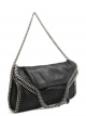 Stella McCartney-falabella three chain black small tote bag-falabella three chain small tote color nero-Stella McCartney shop online